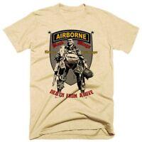 Military Retro T-Shirt Army Airborne Infantry Combat Veteran Paratrooper Tee