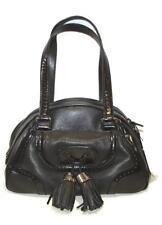 CELINE Vintage Nero fastidio Borsetta Porte EPAULE Grand Nero Bag Borsa