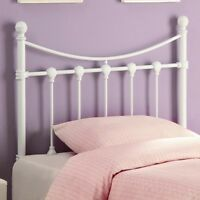 Coaster 450101T - Youth Headboards Twin White Metal Headboard