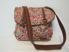 SAKROOTS Printed Weave Boho Convertible Straps Backpack Handbag Bag Purse Large