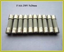Equipement électrique, d'essai Verre Fuses sauvegarde FST 5x20 250 V 16 A Indolent Axial 10 Pièce Fusibles à cartouche