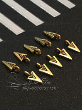 PJ308/ 50pc Tibetan Gold Pendant Bead Charms Jewelry Findings Wholesale