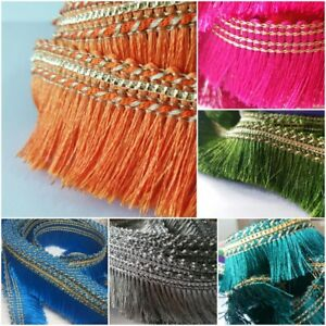 Silky Feather Style Fringe Trimming Braid Lace Sewing Ribbon Wedding Decor