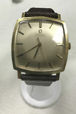 a1018 Vintage Omega Automatic Classic Square Shape Gold Filled Watch