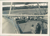 Vickers Vernon Biplane troop carrier attracts A Crowd At India Airfield 1930's
