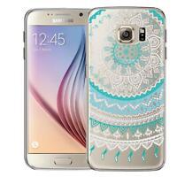 Schutz Hülle Samsung Galaxy S6 Hülle Silikon Handy Tasche Mandala Case Cover