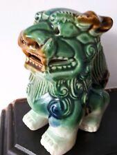 VINTAGE ANTICO? ceramica Cinese Fu Foo Green Dog