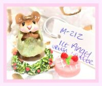 WFF# M-656 Green Dress Christmas 2018 Mouse Wee Forest Folk CHRISTMAS CRACKER