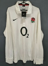 LONG SLEEVE MINT NIKE RUGBY UNION ENGLAND 2011/2012 SHIRT JERSEY MAILLOT SIZE L