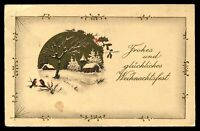 WW2 WWII Germany 3rd Reich Postcard Cover Hitler Era Christmas Greetings 1939 PC