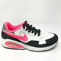 Nike Girls Air Max ST 653819-101 White Black Hyper Pink Running Shoes Size 5.5Y