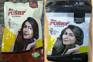 Pushp Henna Powder Natural Brown / Black | Nourished Hair | Ammonia Free | 20g