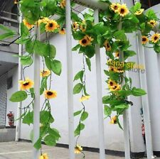 75FEET ARTIFICIAL SUNFLOWER VINE FAUX GARLANDS FAKE IVY YARD HOUES YARD DECOR