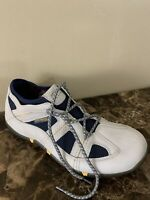 Sperry FIGAWI Collection Boat Shoes Mens Size 12M Beige/Blue Leather-Mesh *Mint*