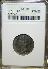 1858 Canada 20 Cents ANACS EF40