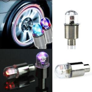 BUA2 Wheel Tyre Valve Cap Stem Neon LED Light Waterproof Flash For Car Truck