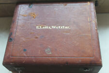 E Leitz Wetzlar Microscope Polarising Objective Petrological Box Antique