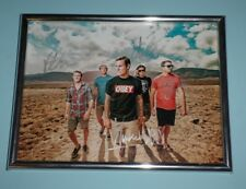 """PARKWAY DRIVE SIGNED 8 x 6"""" BAND PHOTO FRAMED"""