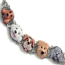 Sweet Romance Dog Lovers Bracelet ~Hand-painted & Made in Los Angeles California