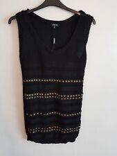 Ladies Womens Girls Black Jumper Dress Size 18 By PAPAYA