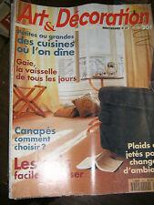 Art et Décoration N° 324 Cuisine Canapés Vaisselles Sols faciles à poser Plaids