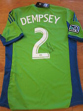 Clint Dempsey Signed Seattle Sounders Jersey Coa + Proof! Mls Team Usa