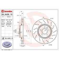BREMBO 2x Bremsscheiben Gelocht/innenbel. beschichtet 09.A426.1X