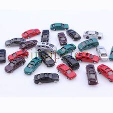 100pcs Scale 1:150 Gauge N Painted Plastic Model Car for Building Train Layout