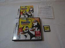 The Penguins of Madagascar (Nintendo DS, 2010) game boy case insert Nickolodeon