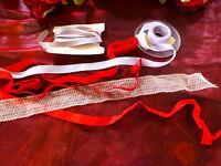 grand lo t rubans rouges ,parmes et dentelle rose==== a saisir !!