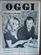 OGGI n°21 1960 Filippo Orsini Belinda Lee Jean Paul Belmondo Fils D'Eve [VL02]