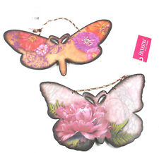 Tin Butterfly Ornaments Set of 2 Insects by Elizabeth Tipton
