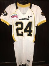 Game Worn Used Missouri Tigers Mizzou Football Jersey #24 Size 40 Alamo Bowl