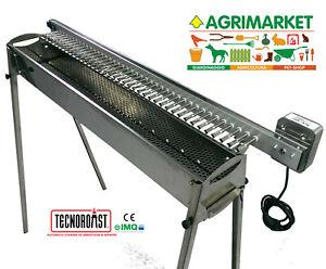 TecnoRoast fornacella ACCIAIO INOX carbone girevole automatica 40 arrosticini