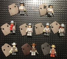 Lego Custom Civil War Confederate Soldier lot with Voluteers. 9 custom Figures !