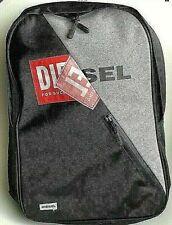 100% Genuine Diesel Rucksack Backpack Black & Grey ~ Unisex/ Adults/ Kids