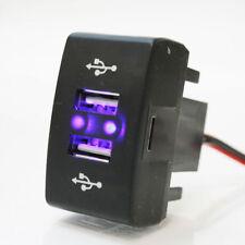 24V CRUSCOTTO DOPPIA USB PORTA INSERTO CARICABATTERIE PRESA INDICATORE LED per