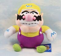 Nintendo Super Mario Bros Plush Toy Wario 7in Stuffed Animal Doll Rare