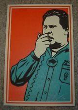 ERNESTO YERENA Print BROWN BUFFALO Handbill poster shepard fairey