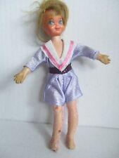 BARBIE Puppe Tutti mit lila Kleid 60er Jahre MATTEL