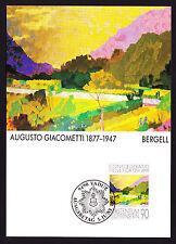 1991 Liechtenstein Maxi Postcard Swiss Artist Augusto Giacometti Painting Art PC