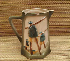 Ancien pichet en barbotine style Saint Clement french antique pottery
