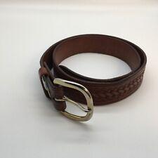 "Vintage Brown Leather Men's Belt, Size 36 Width 1 7/16"" Men's Fashion Accessory"