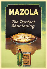 Kitchen MAZOLA Shortening Dining Cooking Cook Art Poster Print