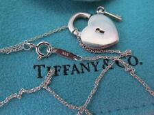 Tiffany & Co. Heart Padlock & Key Necklace/Pendant