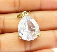 925 Sterling Silver - Sparkling Pear Shaped Cubic Zirconia Drop Pendant - P7969