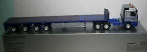 Conrad 721X Mercedes Benz Actros 6 X 4 With 6 wheel Goldhofer Flat Bed in 1:50