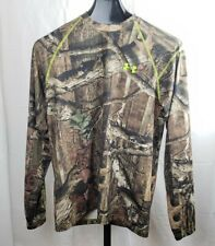 Under Armour Men's UA Scent Control Camo Long Sleeve Shirt, Forest Camo