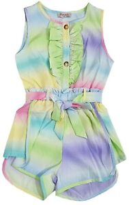 Kids Girls Beautiful Tie &Dye Outfit Playsuits Jumpsuits Romper Summer Dress Top