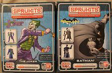 SPRUKITS Batman & Joker Level 1 Poseable Figural Model Kits ~ Light-Realistic